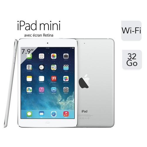 "Apple iPad Mini Retina Argent WiFi 32 Go, 7.9"" Retina"