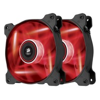 Pack de 2 ventilateurs Corsair AF120 Quiet Edition, 120 mm (LED Rouges)