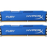 DDR3 Kingston HyperX Fury, 8 Go (2 x 4 Go), 1600 MHz, CAS 10
