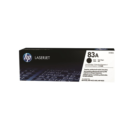 Toner Noir CF283A, 83A, 1500 pages, HP