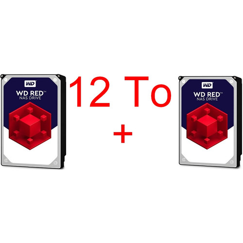 Lot de 2 disques durs Western Digital WD Red, 6 To