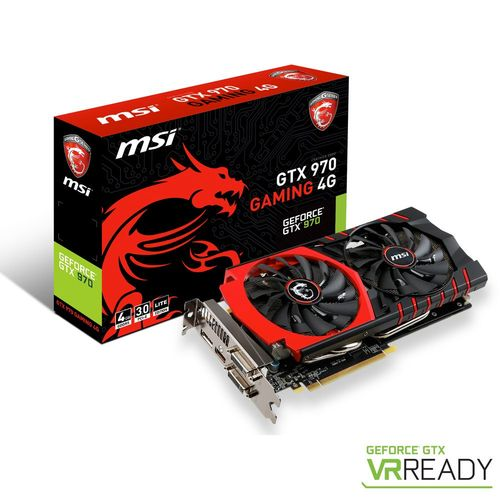MSI GeForce GTX 970 GAMING 4G, 4 Go