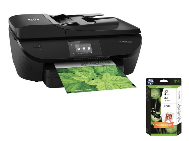 hp officejet 5740 e all in one 1 pack de 2 cartouches. Black Bedroom Furniture Sets. Home Design Ideas