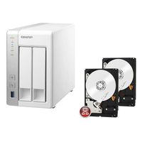 QNAP TS-231 + 2 x Disque dur Western Digital WD Red, 3To