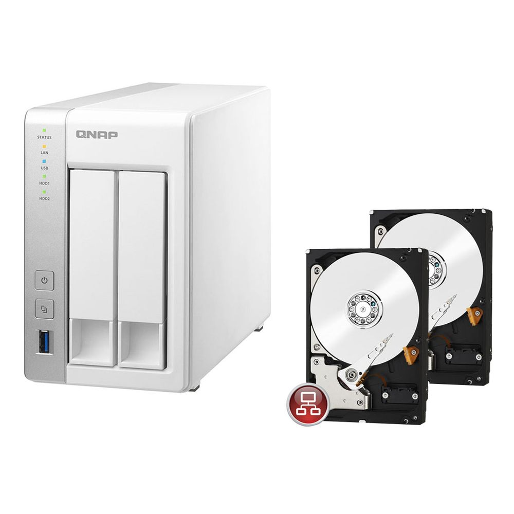 qnap ts 231 2 x disque dur western digital wd red 3to top achat. Black Bedroom Furniture Sets. Home Design Ideas