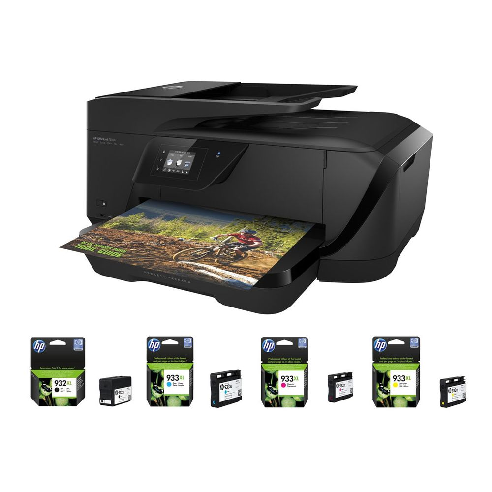 hp officejet 7510 1 lot de 4 cartouches hp 932xl 933xl top achat. Black Bedroom Furniture Sets. Home Design Ideas