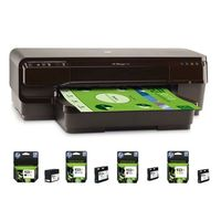 HP Officejet 7110 + 1 Lot de 4 cartouches HP 932XL/933XL