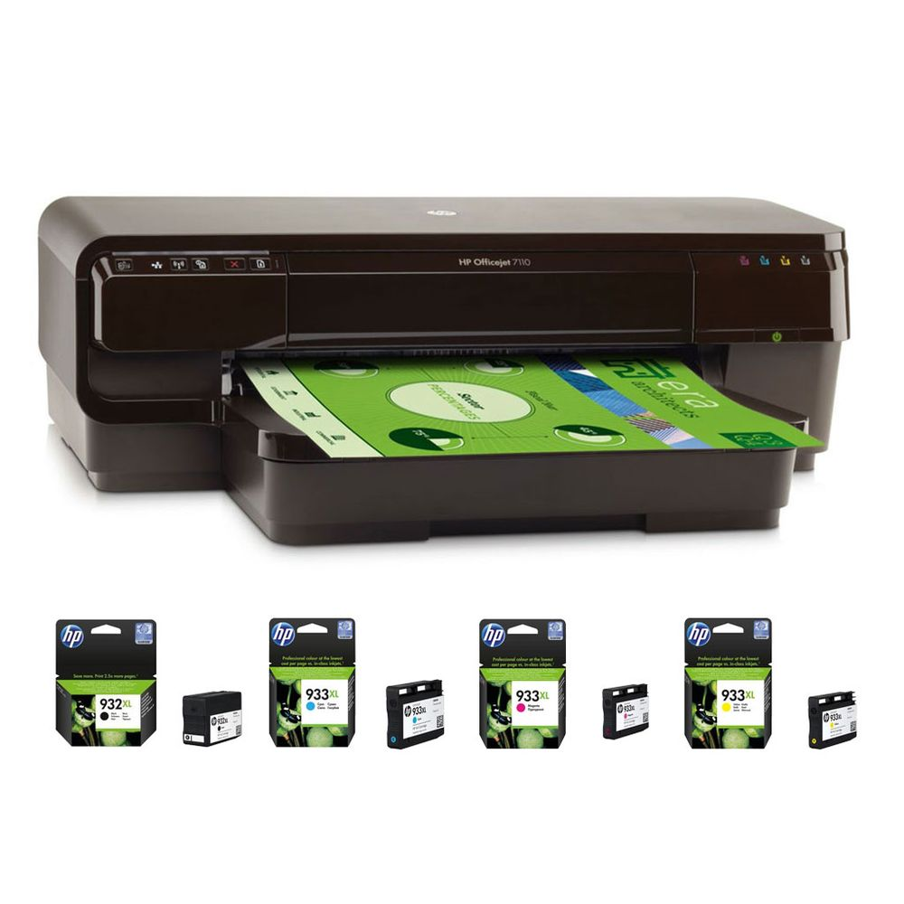 hp officejet 7110 1 lot de 4 cartouches hp 932xl 933xl achat pas cher avis. Black Bedroom Furniture Sets. Home Design Ideas