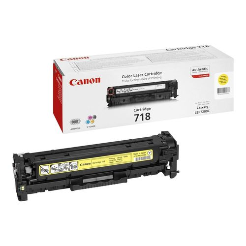 Toner Jaune 718Y, 2659B002AA, 2900 pages, Canon