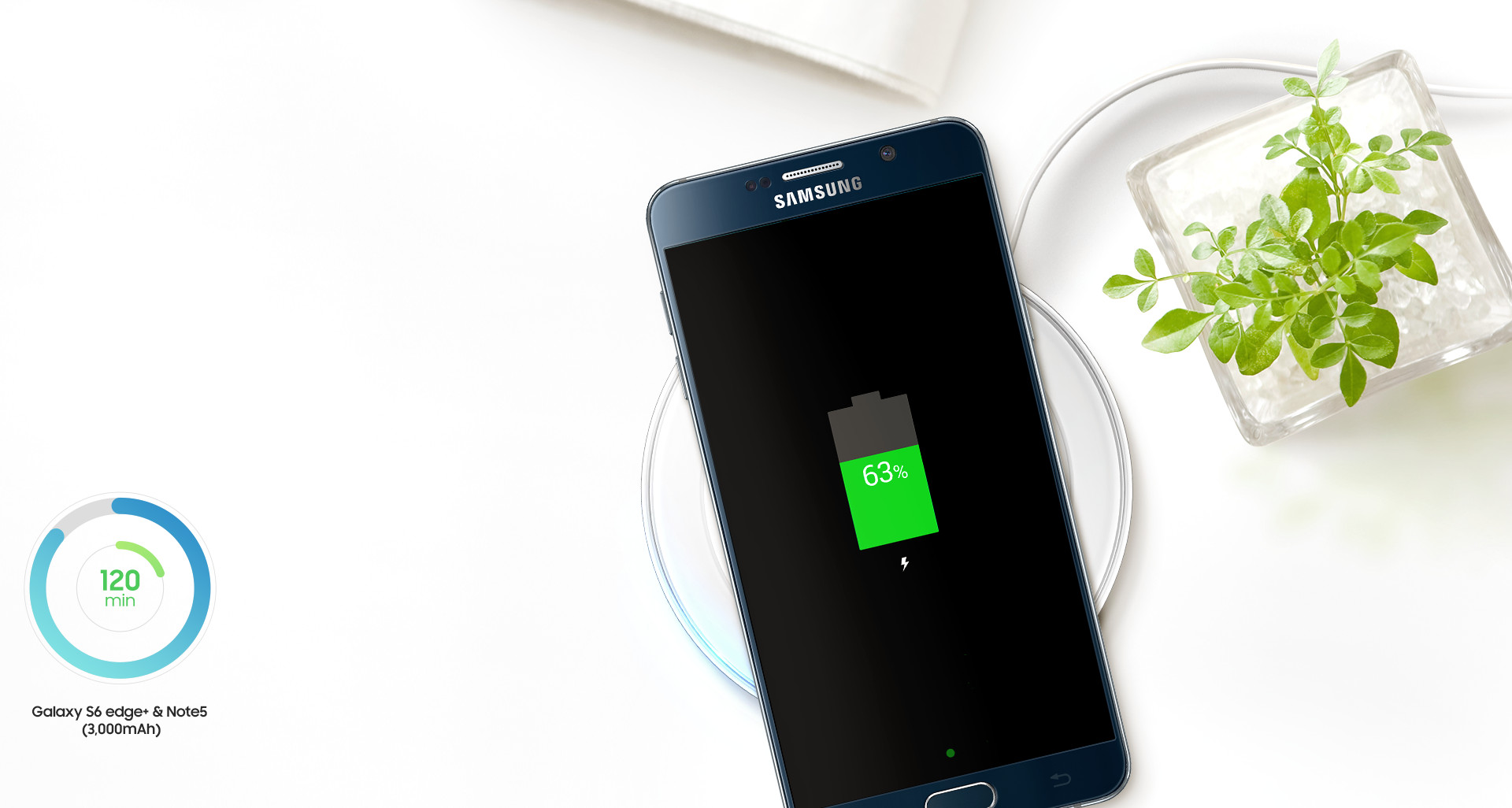 chargeur induction rapide pour galaxy s6 edge blanc samsung top achat. Black Bedroom Furniture Sets. Home Design Ideas
