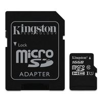 Carte M�moire Micro SDHC UHS-I Kingston SDC10G2, 16 Go, Classe 10+ Adaptateur SD