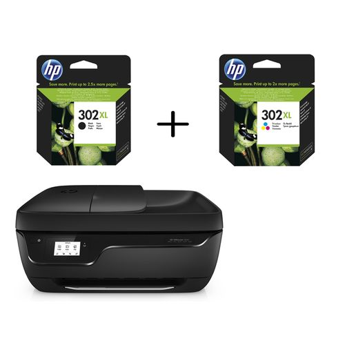 hp officejet 3830 1 lot de 2 cartouches d 39 encre noire et couleurs hp 302xl top achat. Black Bedroom Furniture Sets. Home Design Ideas