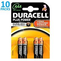 x10 blisters de 4 piles Duracell Plus Power LR03 (AAA)