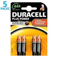 x5 blisters de 4 piles Duracell Plus Power LR03 (AAA)