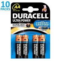 x10 blisters de 4 piles Duracell Ultra Power LR06 (AA)