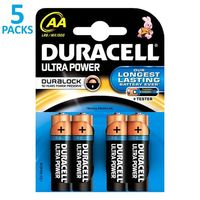 x5 blisters de 4 piles Duracell Ultra Power LR06 (AA)