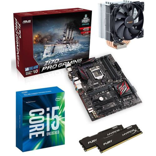 Kit d'évo Intel Core i5-6600K + Pure Rock + Asus Z170 PRO GAMING + 8 Go
