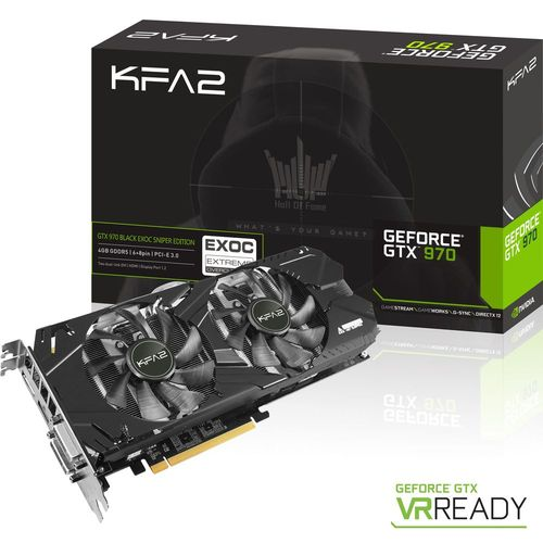 KFA2 GeForce GTX 970 BLACK EXOC SNIPER EDITION, 4 Go