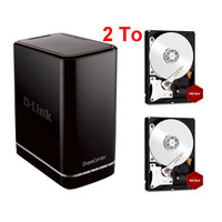 D-Link DNS-320L + 2 x Western Digital WD Red, 1 To