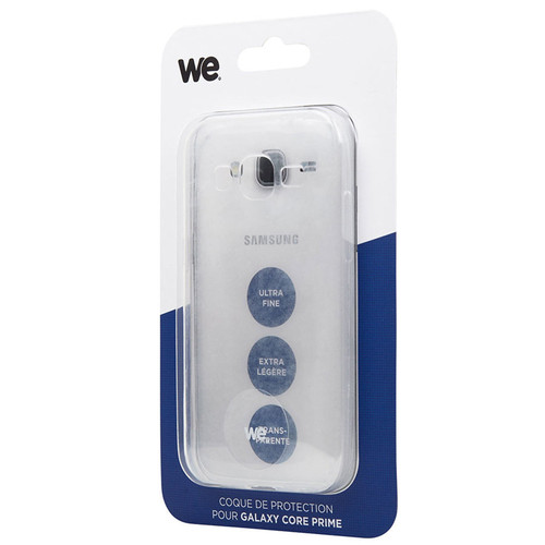 WE Coque pour Galaxy Core Prime Transparent