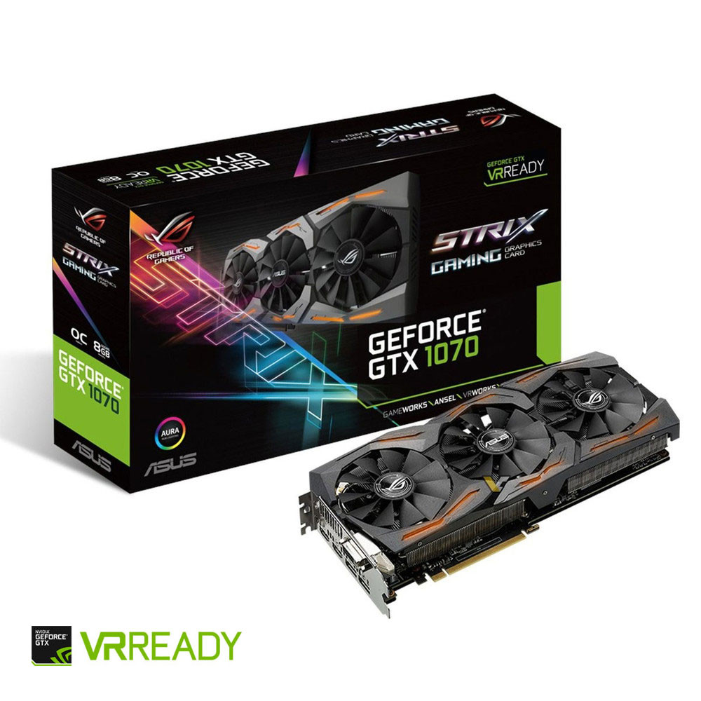 Asus GeForce GTX 1070 ROG STRIX OC, 8 Go | Top Achat