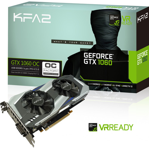 KFA2 GeForce GTX 1060 OC, 6 Go