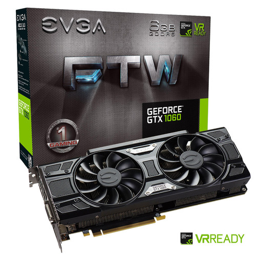 EVGA GeForce GTX 1060 FTW+ GAMING ACX 3.0, 6 Go