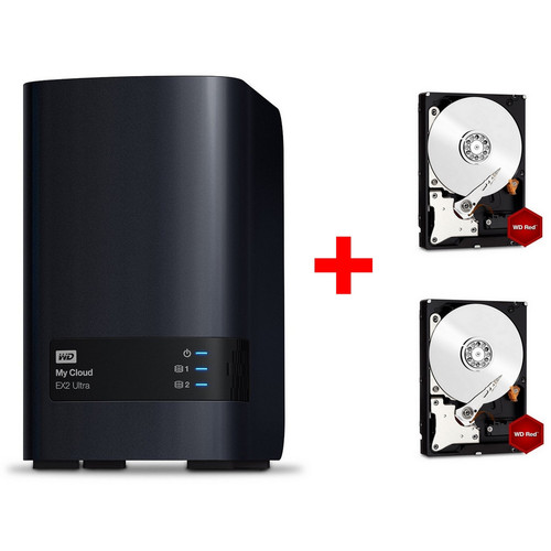 Western Digital My Cloud EX2 Ultra + 2 x Western Digital WD Red, 1 To