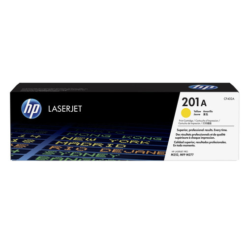 Toner Jaune CF402A, 201A, 1400 pages, HP