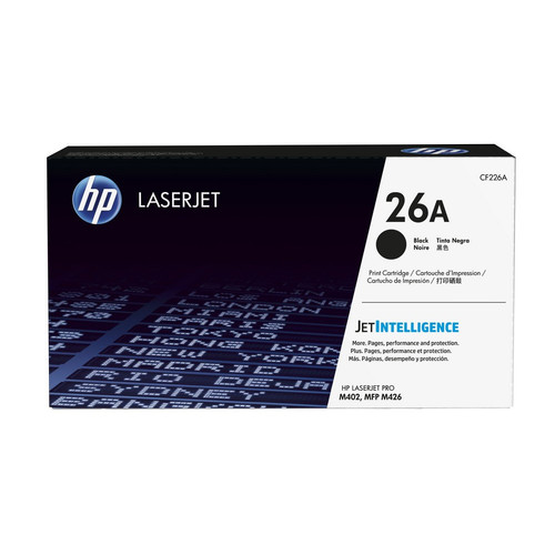 Toner Noir CF226A, 26A, 3100 pages, HP