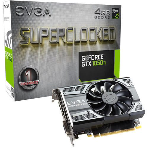 EVGA GeForce GTX 1050 Ti SC GAMING, 4 Go