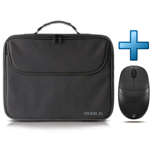 Mobilis TheOne Basic Briefcase 17.3' Noir + Souris Mobility Lab