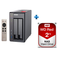 QNAP TS-251+ + 1 x Western Digital WD Red, 2 To