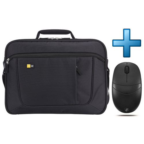 Case Logic Laptop Briefcase 17.3'' (ANC317) Noir + Souris Mobility Lab