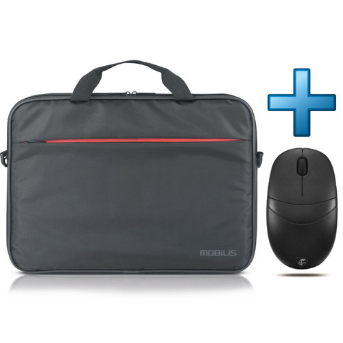 Mobilis Advantage Slim Briefcase 17.3'' Noir + Souris Mobility Lab