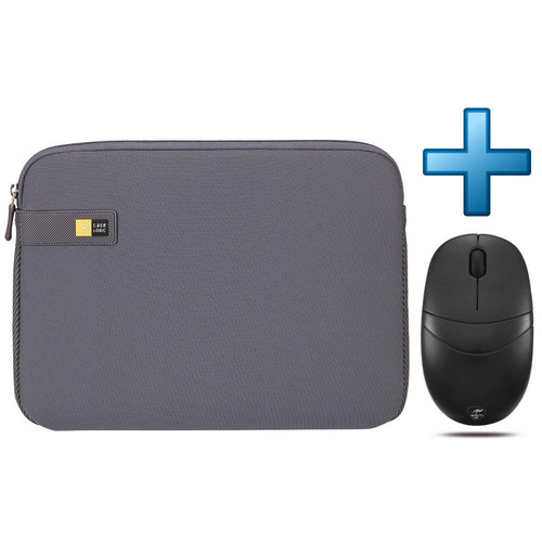 Case Logic Laptop Sleeve 11.6'' (LAPS111GR) Gris + Souris Mobility Lab