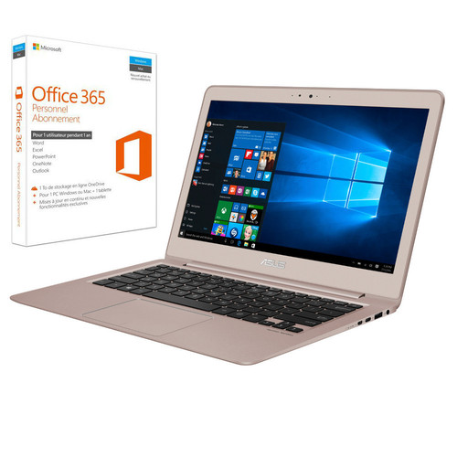 Asus ZenBook UX330UA-FC004T Or rose + Microsoft Office 365 Personnel (1 an)