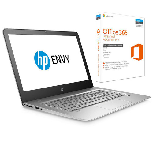 HP Envy 13 (13-D110NF) Silver + Microsoft Office 365 Personnel (1 an)