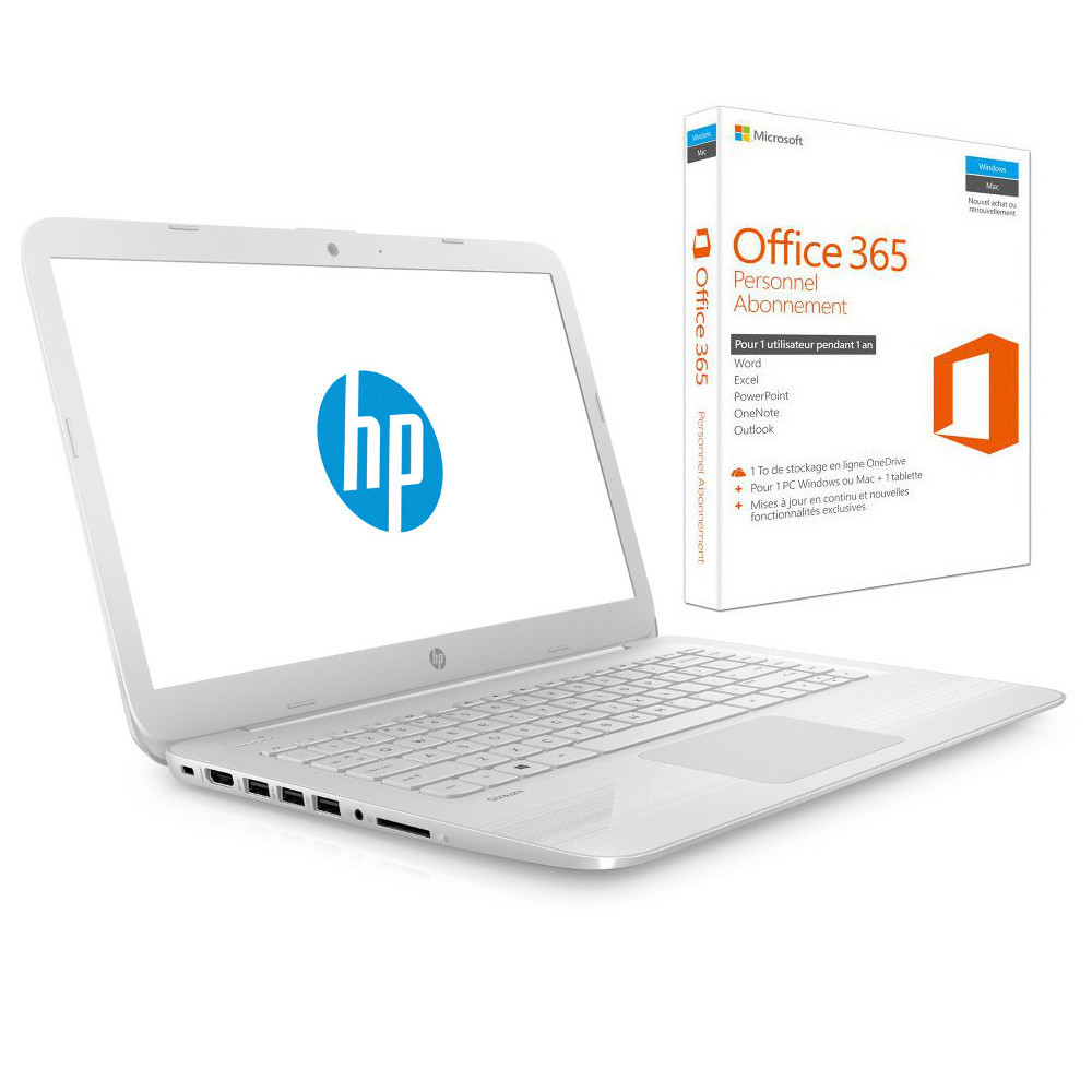 hp stream 14 ax003nf blanc microsoft office 365 personnel 1 an top achat. Black Bedroom Furniture Sets. Home Design Ideas