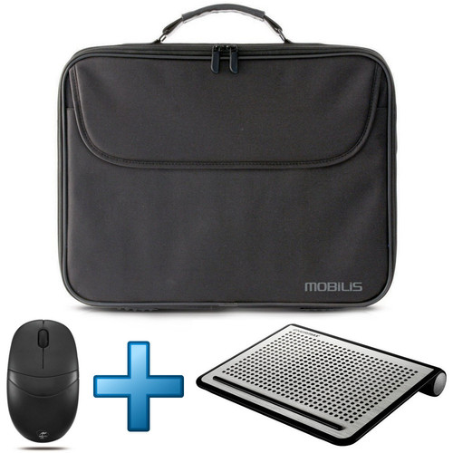 Mobilis TheOne Basic Briefcase 15.6' Noir + Souris + Support ventilé