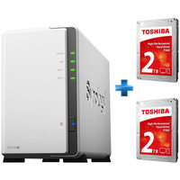 Synology DS216j + 2 x Toshiba P300, 2 To