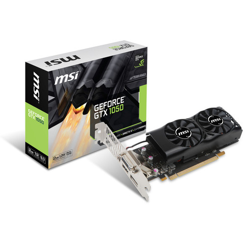 MSI GeForce GTX 1050 2GT LP, 2 Go