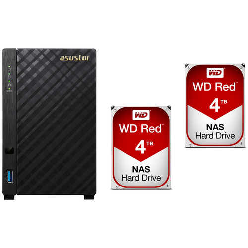 Asustor AS1002T + 2 x Western Digital WD Red, 4 To
