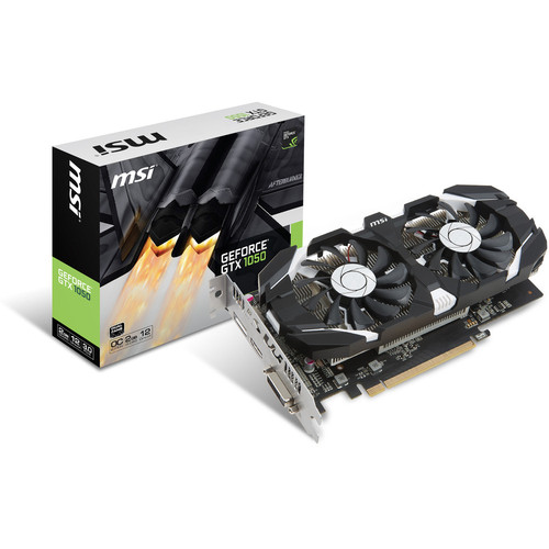 MSI GeForce GTX 1050 2GT OC, 2 Go