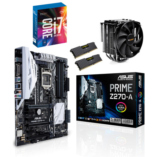 Kit d'évo Intel Core i7-7700K + Asus PRIME Z270-A + Dark Rock 3 + 16 Go