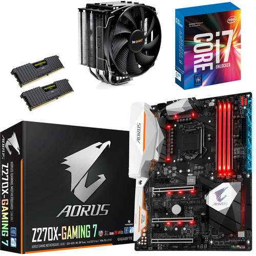 Kit évo Core i7-7700K + Gigabyte Aorus Z270X-Gaming 7 + Dark Rock 3 + 16 Go