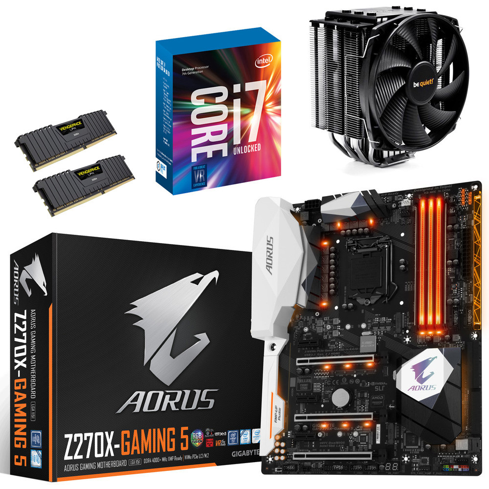 kit vo core i7 7700k gigabyte aorus z270x gaming 5 dark rock 3 16 go top achat. Black Bedroom Furniture Sets. Home Design Ideas