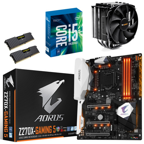 Kit évo Core i5-7600K + Gigabyte Aorus Z270X-Gaming 5 + Dark Rock 3 + 16 Go