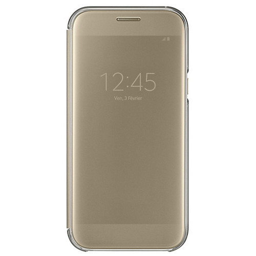 Samsung Clear View Cover pour Galaxy A5 2017 Or