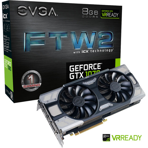 EVGA GeForce GTX 1070 FTW2 GAMING iCX, 8 Go